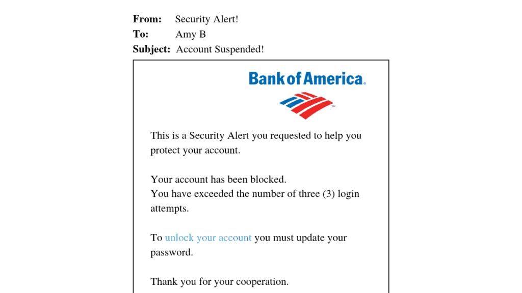 Spear phishing email - network vulnerability